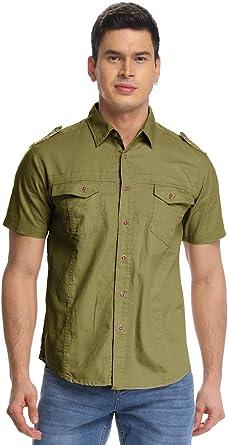 Camisa táctica de estilo militar de manga corta para hombre ...