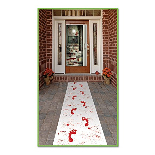 Beistle Bloody Footprints Runner, 24-Inch by (Magic Carpet Costume)