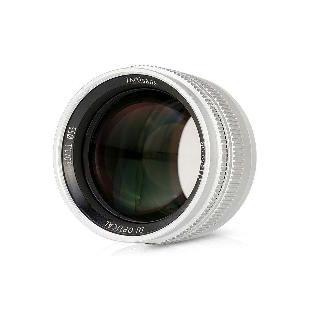 7artisans 50mm f/1.1 マニュアルフォーカスプライムレンズ 固定焦点 大口径 Leica M2/M3/M4P/M5/M6/M7/M8/M9/M9P/M10/M240/M240P/M262 Mマウントミラーレスカメラ用   B07PPLF5HY