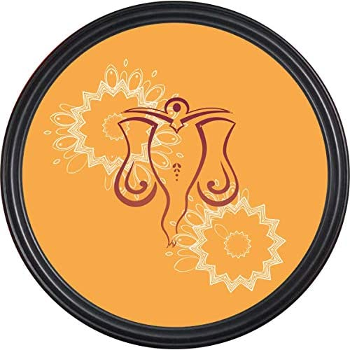 RAG28 14 Inch Round Framed Painting Lord Ganesha for Ho