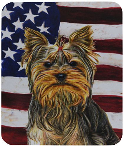 carolines-treasures-usa-american-flag-with-yorkie-yorkshire-terrier-mouse-pad-hot-pad-trivet-kj1156m