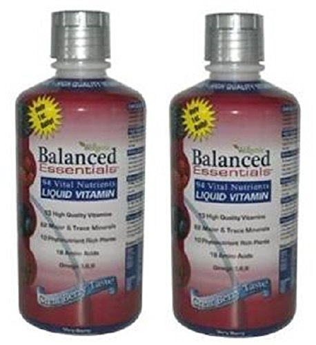 Balanced Essentials 2 Pack Natural Liquid Nutritional Supplement Vitamin 32 Ounces Very Berry S-BE32