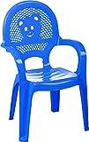 Resol Childrens Kids Garden Outdoor Plastic Chair - Blue - Childs Furniture (1 chair)