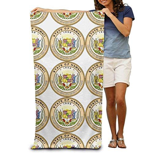 - GAMEYA SHOPP Natural Eco-Friendly Bath Towel Qinf Seal of The State of Hawaii Adult Beach Towels,Antibacterial Quick Drying(31