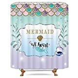 Best Royal bathroom scales - Riyidecor Mermaid Scales Shower Curtain Fishscales Glare Ocean Review