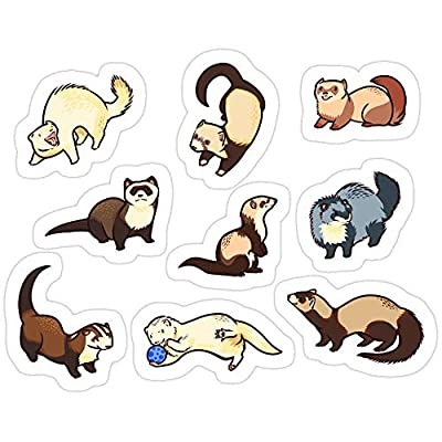 Andrews Mall cat Snakes in Blue Stickers (3 Pcs/Pack): Home & Kitchen
