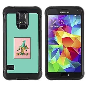 Suave TPU GEL Carcasa Funda Silicona Blando Estuche Caso de protección (para) Samsung Galaxy S5 V / CECELL Phone case / / Banana Green Fruit Minimalist /