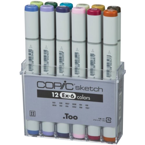 Price comparison product image Copic Marker Copic Sketch Markers 12 Piece Set-Ex-6 (Pack Of 1)