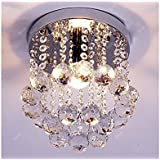 Discount4product 27cm-Small-Round Modern Ceiling Light Fixture (Transperent)