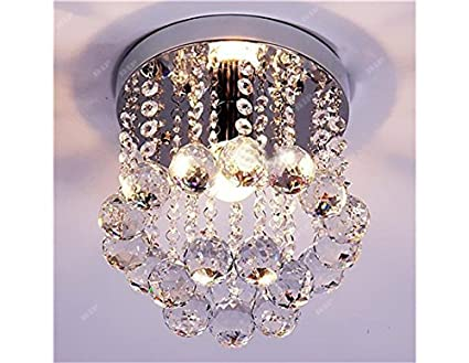 Discount4product 27cm-Small-Round Modern Ceiling Light Fixture (Transperent) Ceiling Lights at amazon