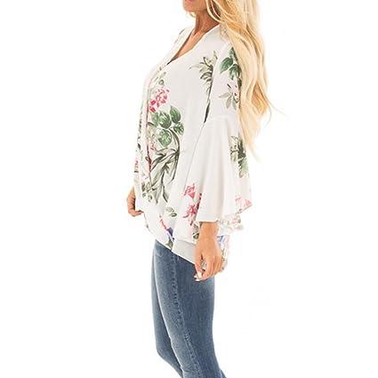 ... camisas de impresión Las camisas largas cubren con volantes la blusa ocasional irregular de camisetas Brief V-neck vestidos blusa Long Sleeve Blouse: ...