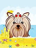 Caroline's Treasures BB2072GF Yorkie Yorkshire Terrier Summer Beach Garden Flag, Small, Multicolor Review