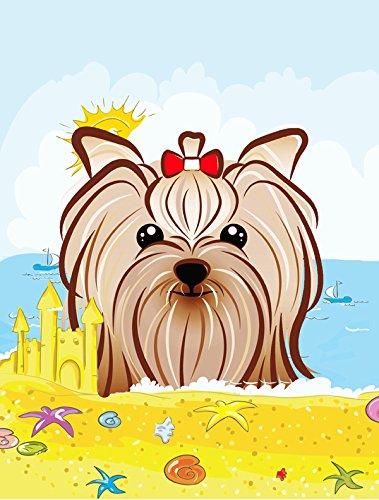 Caroline's Treasures BB2072GF Yorkie Yorkshire Terrier Summer Beach Garden Flag, Small, Multicolor Review