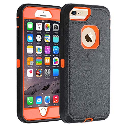 Co-Goldguard iPhone 6s Plus/6 Plus Case,HEAVY DUTY Armor 3 in 1 Rugged Cover with Front Frame Dust-Proof Shockproof Drop-Proof Scratch-resistant Anti-slip Shell for iPhone 6+/6s+ 5.5 inch,Black/Orange (Tiffany Co Iphone Case)