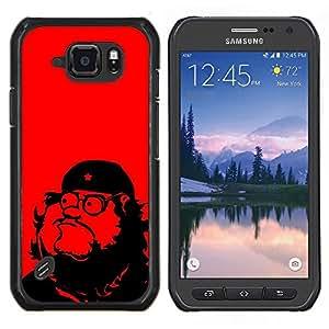 TECHCASE---Cubierta de la caja de protección para la piel dura ** Samsung Galaxy S6 Active G890A ** --Che Guevara Parodia Arte comunismo Estrella Roja