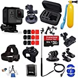 GoPro HERO6 Hero 6 Black + SanDisk Ultra 32GB Micro SDHC Memory Card + Hard Case + Much More Adventure Accessory Bundle