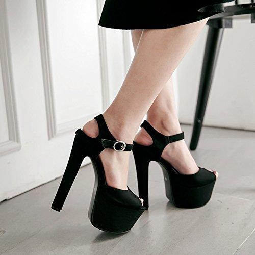 Crudo Grande Yardas Atractiva Primavera Discoteca Talones Talla Mujer 48 Altos 33 Impermeable Plataforma Tacones 33 Nueva de Otoño Sandalias de Alta 48 Damas Talón Super Zapatos Sandalias Moda q8Sxwvw