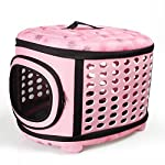 Fashion Airline Approved Portable Folding Pet Carrier Tote Bag for Dogs Cats Rabbit Kennel Travel Outdoor Handbag Pouch by Time4Deal (Pink)