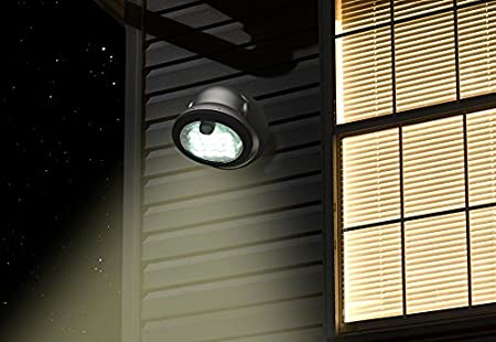 By Fulcrum, 16-LED Motion Sensor Security Light, Battery Operated, White - - Amazon.com
