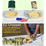 EZ Corn Creamer/ Whole Kernel/ Shucking Tool with Easy Chopper Knife and Cutting Board