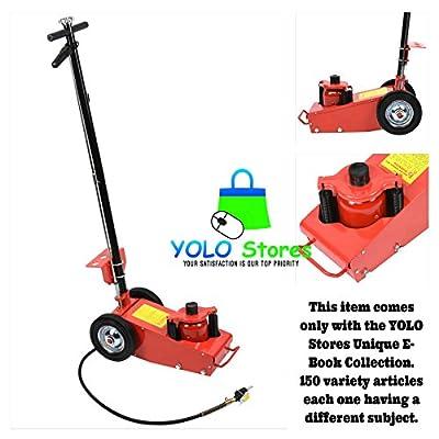 Heavy Duty 22 Ton Air Hydraulic Floor Jack Wheels Lift Auto Truck Bus Shop Repair Equipment By YOLO Stores