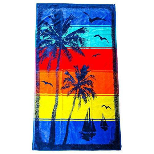 Kirkland Signature 100% Egyptian Cotton Beach Towel (Sunset Bay) -