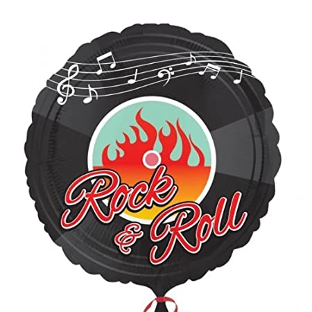 50s Rock And Roll Foil Balloon 43cm One Size