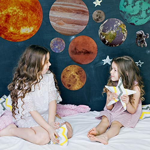 Kids Wall Stickers Solar System Wall Decals Stars and Planets Decorations for Bedroom by Stickerry Stars for the Ceiling Kids Room and Planets for Kids Poster Glow in The Dark Stars and Planets