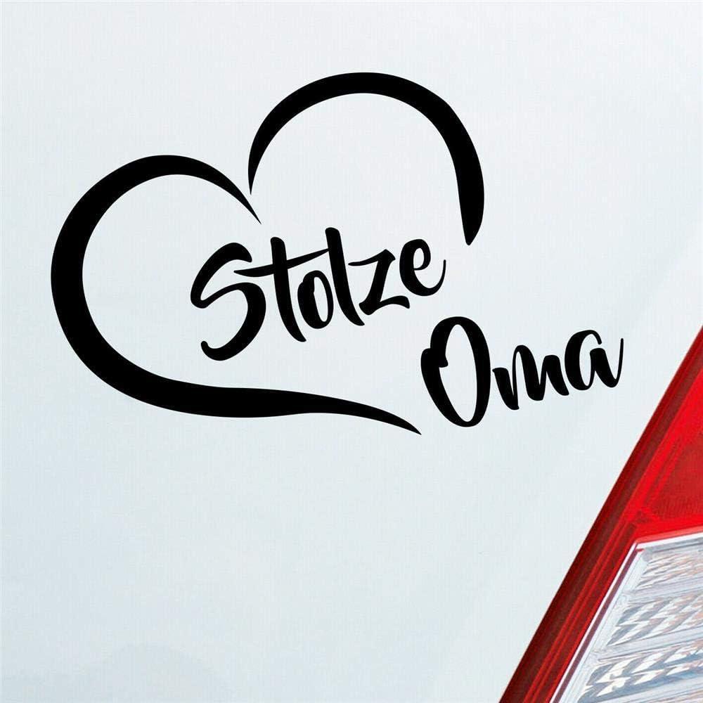 Stolze Oma Liebe Herz Großmutter Enkel Auto Aufkleber Sticker Heckscheibenaufkleber Auto