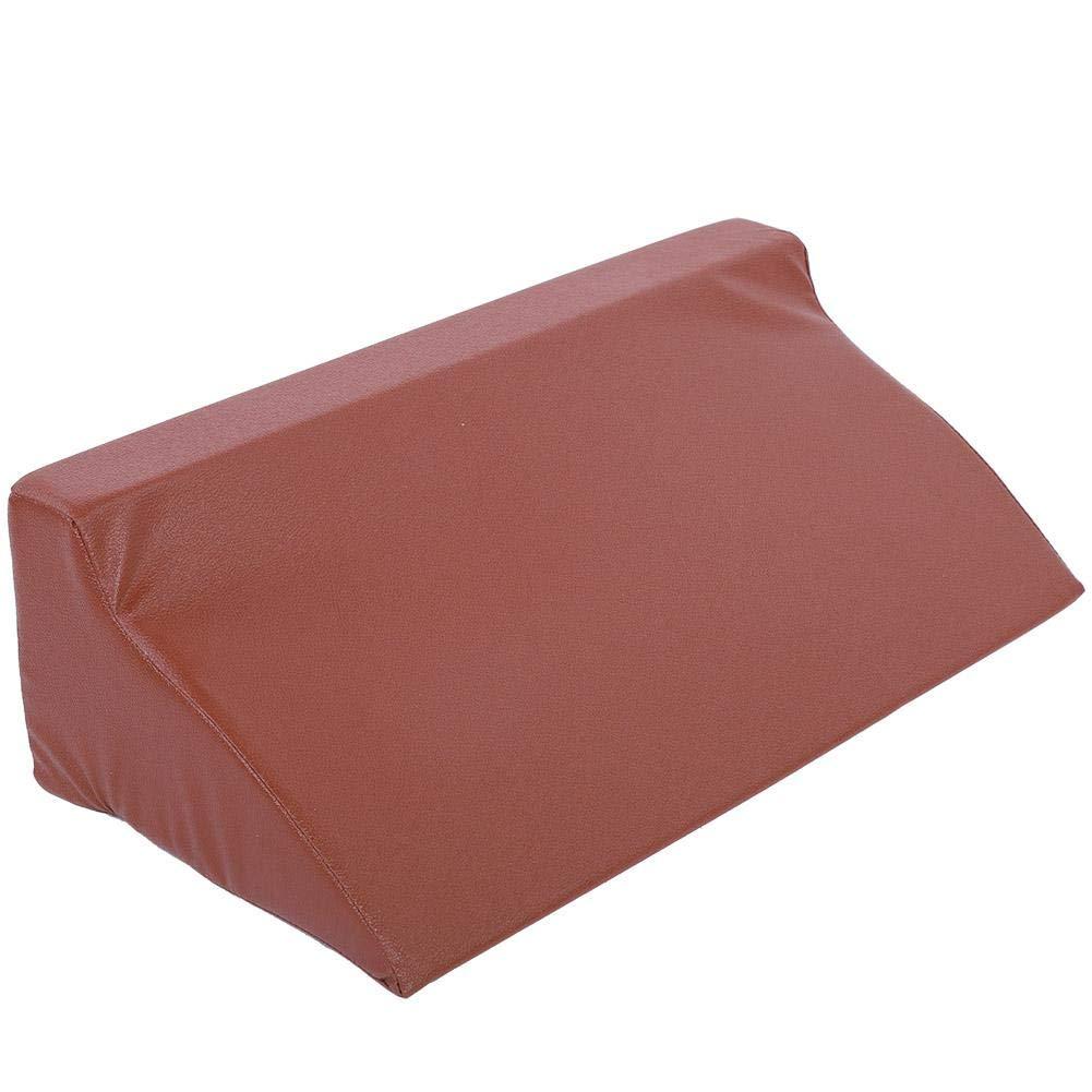 Keyren PU Leather Foam Wedge Cushion Leg Elevation Back Lumbar Support Pillow