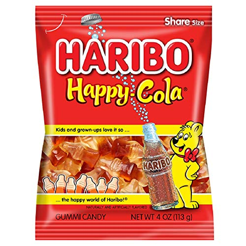 Haribo Gummi Candy, Happy-Cola, 4 ounce (Pack of 12)