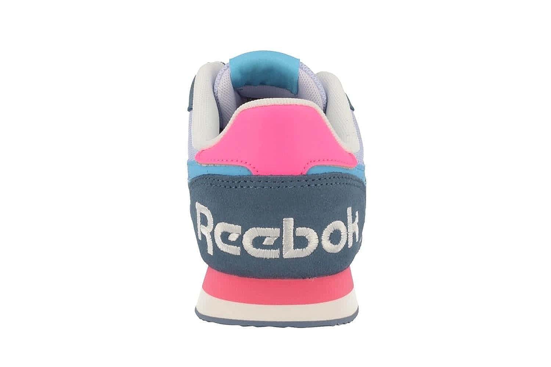 Reebok Royal CL Jog 2RS, Zapatillas de Deporte Para Mujer, Gris (Slate/Lucid Lilac/Crisp Blue/Poison Pink), 37 EU
