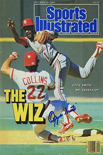 Ozzie Smith Sports Illustrated Autograph Replica Super Print - The Wiz - 9/28/1987 - Unframed ()