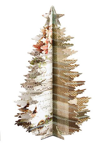 Glittered Nature Fold Out Christmas Tree