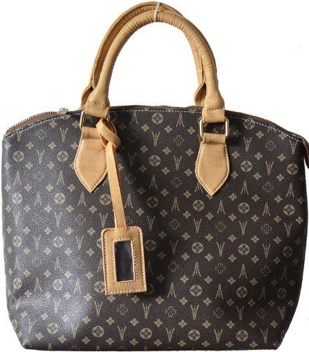 CHLOE   Camel Designer Handbag with Gold Metal zippers (Brown)