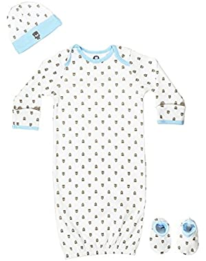 Gerber Baby 4 Piece Sleepwear Essential Layette Gift Set