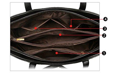Set Purse Women Wallet Bag handle Tote and Handbag for Bag Satchel Top Purse Set Red Shoulder zfwRXd