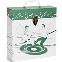 TUNES-TOTE DANCERS GREEN LP VINYL RECORD STORAGE CASE, 12 - ALBUMS - 33-1/3 RECORD CARRY BOX