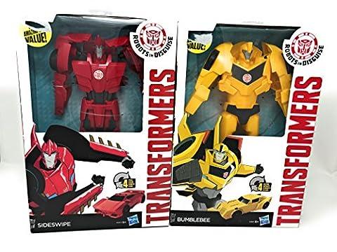 Transformers Robots in Disguise 4-Step Changers Sideswipe and Bumblebee Figure bundle (Universal Studios Steelbook)
