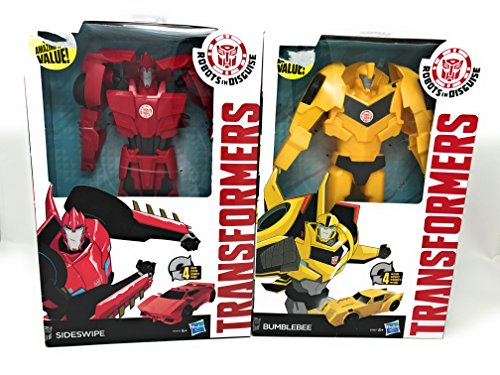 Transformers Robots in Disguise 4-Step Changers Sideswipe and Bumblebee Figure (Bumblebee From Transformers 4)