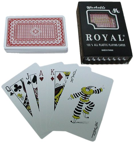 One Red Deck- Royal 100% Plastic Playing Cards /Star Pattern (Deck One Pattern)