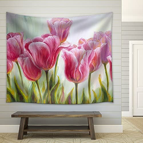 Tulips Oil Painting Fabric Wall