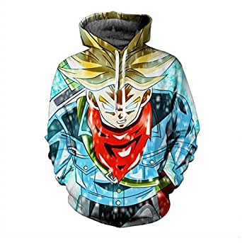 DRAGON BALL anime Super Saiyan printing fashionable cotton hoodie round collar long sleeve casual sweatshirt sport hoodie