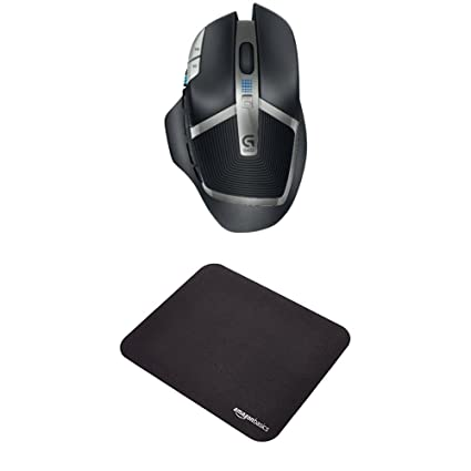 Logitech G602 Lag-Free Wireless Gaming Mouse and AmazonBasics Gaming Mouse  Pad