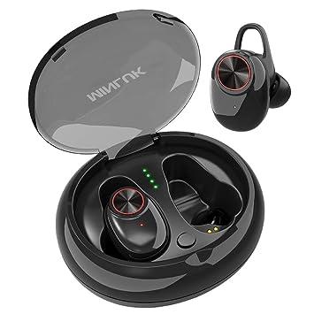 MINLUK Mini Auricular Bluetooth 5.0 Inalambricos Invisible, TWS Auriculares Bluetooth Manos Libres Deportivo IPX5 Estéreo