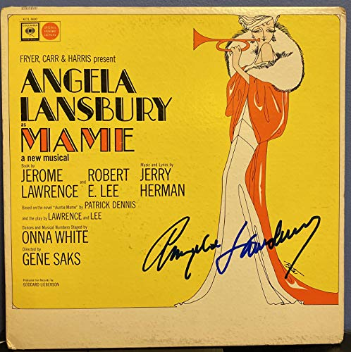 "Angela Lansbury signed Mame Original Broadway Cast 12"" lp record"