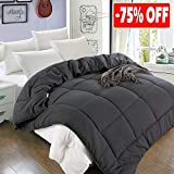 Balichun Twin Comforter (64 by 88 inches) - Grey