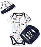 Baby Boys Seattle Seahawks Bodysuit, Bib & Cap Set Size 3-6 Months