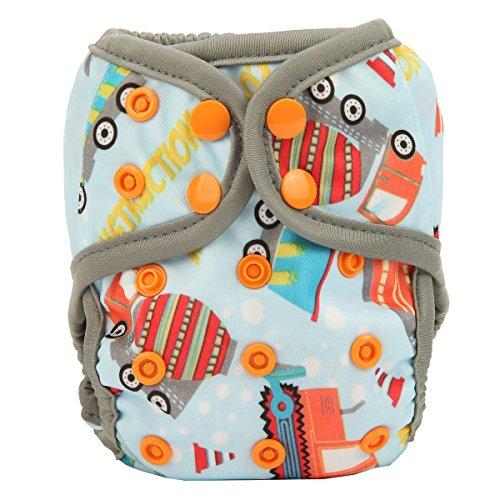 Cover Cranes - Sigzagor Newborn Baby Diaper Nappy Cover 8lbs-10lbs For Boys (Crane)