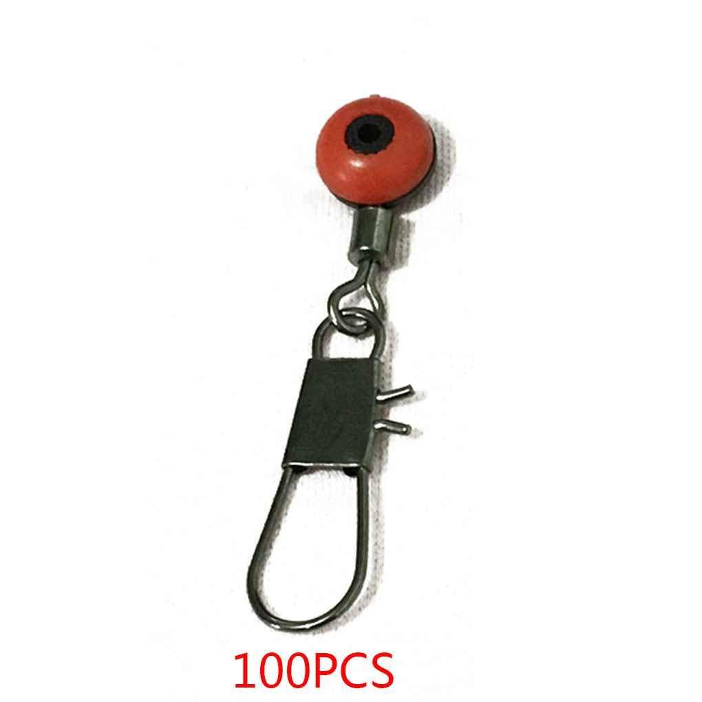 Provide The Best 100pcs p/êche Emerillons Haricots Space Barrel Connecteur Snaps Tackle Rigs de p/êche Liens